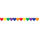 Hygloss Products HYG33626 Multi Color Hearts Border