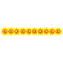 Hygloss Products HYG33639 Happy Sun Die Cut Border