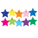 Hygloss Products HYG33756 7In Multicolor Happy Stars Die Cut