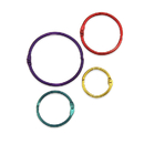 Hygloss Products HYG61336 Metallic Book Rings Pack Of 36