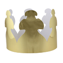 Hygloss Products HYG65244 Bright Gold Tag Crowns 24Ct