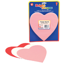 Hygloss Products HYG88618 Tissue Shapes 180Ct 6In Hearts In Red White & Pink