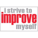 Inspired Minds ISM0006P I Strive To Improve Poster