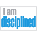 Inspired Minds ISM0009P I Am Disciplined Poster