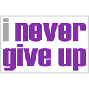 Inspired Minds ISM0014P I Never Give Up Poster