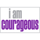 Inspired Minds ISM0016P I Am Courageous Poster