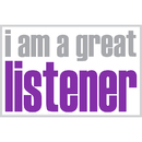 Inspired Minds ISM0023P I Am A Great Listener Poster
