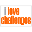 Inspired Minds ISM0025P I Love Challenges Poster
