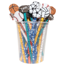 J.R. Moon Pencil Co. JRM52960 Pencil And Eraser Topper Sports