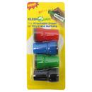 Kleenslate Concepts KLS0832 Attachable Erasers For Dry 4-Pk Erase For Lrg Barrel Marker Carded