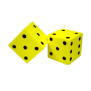 Koplow Games KOP11694 Foam Dice 2 Dot Set Of 2