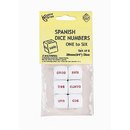 Koplow Games KOP16016 Spanish Number Dice Set Of 6 Pcs
