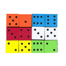 Koplow Games KOP17332 16Mm Foam Dice 12Pk Assorted Color Spot