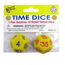 Koplow Games KOP18847BN Time Dice Pair Of Yellow Am, 6 ST