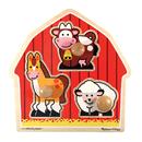 Melissa & Doug LCI2054 Barnyard Animals Jumbo Knob Puzzle