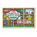 Melissa & Doug LCI3177 Wooden Vehicles And Traffic Signs