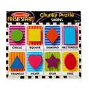 Melissa & Doug LCI3730 Shapes Chunky Puzzle