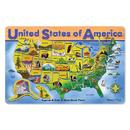 Melissa & Doug LCI3797 Usa Map Wooden Puzzle 16X12 45 Pcs
