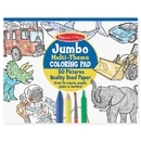 Melissa & Doug LCI4226BN (5 Ea) Jumbo Coloring Pad Blu 11X14