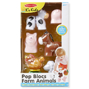 Melissa & Doug LCI9196 Pop Blocs Farm Animals