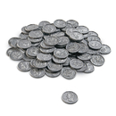 Learning Resources LER0098 Play Money Quarters 100/Pk Plastic