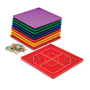 Learning Resources LER0153 Geoboard 5 X 5 Plastic 7 10-Pk