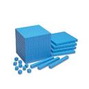 Learning Resources LER0924 Base Ten Units Plastic Blue 100 Pk - 1X1X1Cm