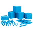 Learning Resources LER0932 Plastc Base Ten Class Set 600 Units - 200 Rods 20 Flats 3 Cubes