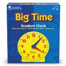 Learning Resources LER2095 Big Time Clock Student 12 Hr 5 Diameter Plastic