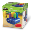 Learning Resources LER2779 Primary Science Jumbo Eyedroppers - Set Of 6 In A Stand