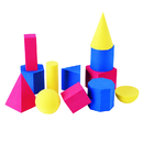 Learning Resources LER6120 Hands-On Soft Geometric 12/Pk Shapes 2-3 3 Colors
