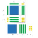 Learning Resources LER7641 Magnetic Algebra Tiles