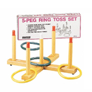 Dick Martin Sports MASRT4 Ring Toss Game 5-Peg Base Wood - Pegs 4 Plastic Rings
