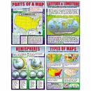 Mcdonald Publishing MC-P222 Basic Map Skills Teaching Poster - Set