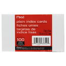 Mead Products MEA63352 Cards Index Plain 3 X 5 100 Ct