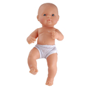 Miniland Educational MLE31031 Newborn Baby Doll White Boy 12-5/8