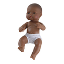 Miniland Educational MLE31038 Newborn Baby Doll Hispanic Girl 12-5/8L