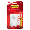 3M MMM17001 Command Adhesive Reusable Medium Hooks Pack Of 2