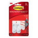 3M MMM17002 Command Adhesive Reusable Small Hooks Pack Of 2