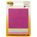 3M MMM5401 Post-It Notes Pastel 4 Pads 50 Sheets Each