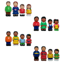 Get Ready Kids MTB624 Multicultural Family 4 St Complete