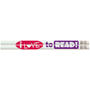 Musgrave Pencil Co MUS1486D I Love To Read Pencils 12Pk