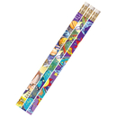 Musgrave Pencil Co MUS1495D Galaxy Galore 12Pk Motivational Fun Pencils