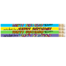 Musgrave Pencil Co MUS2217D 12 Pk Happy Birthday Wishes Pencil