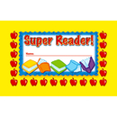North Star Teacher Resource NST2403 Incentive Punch Cards Super Reader 36/Pk