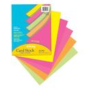 Pacon PAC101181 Array Card Stock Hyper 100 Sht Assortment 5 Colors 8- 1/2 X 11