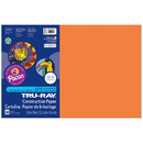 Pacon PAC103405 Tru Ray Electric Orange 12X18 Fade - Resistant Construction Paper