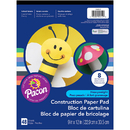 Pacon PAC104612BN Construction Paper Pad 9X12, 12 EA