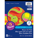 Pacon PAC104627 Neon Construction Pad 9X12