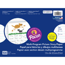 Pacon PAC2423 Picture Story Paper 500 Sht 12 X 9 5/8 In Long Rule
